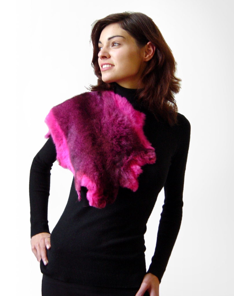 Possum Fur Hide in Hot Pink