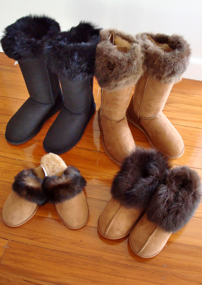 Possum Fur & Sheepskin Boots & Scuffs