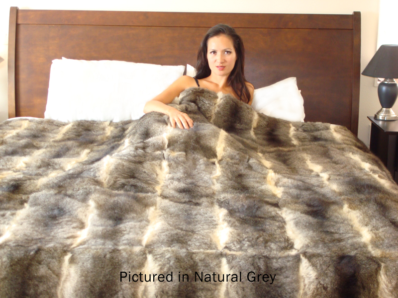 Possum Fur Full Bed Throw - QUEEN SIZE | Wear New Zealand
