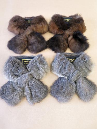 Natural Possum Fur Scarf Collar Set of Four