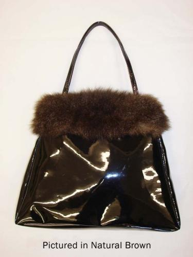 Black Possum Fur Rose Bag