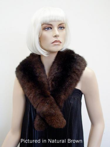 Natural Brown Possum Fur Charleston Wrap