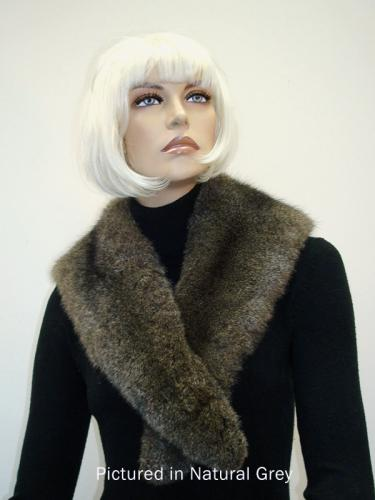 Natural Grey Possum Fur Charleston Wrap
