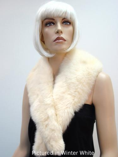 White Possum Fur Charleston Wrap