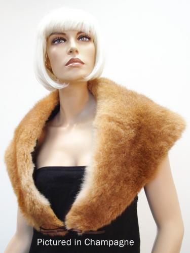 Champagne Possum Fur Greta Garbo Wrap