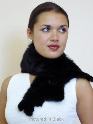 Black Possum Fur Raw Edge Collar