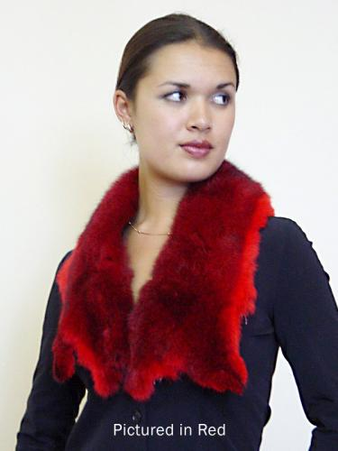 Red Possum Fur Raw Edge Collar