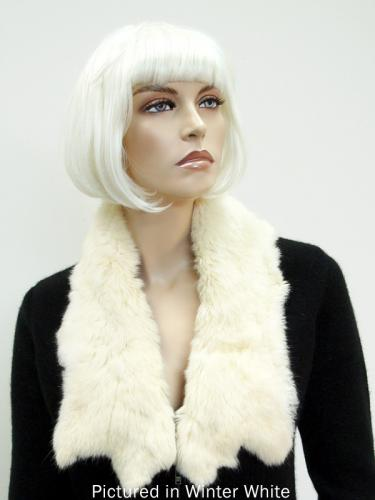 Winter White Possum Fur Raw Edge Collar