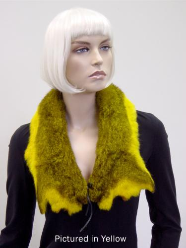 Yellow Possum Fur Raw Edge Collar