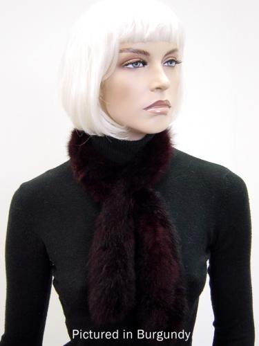 Burgundy Possum Fur Sausage Roll Collar