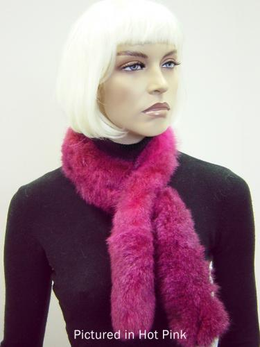 Hot Pink Possum Fur Sausage Roll Collar