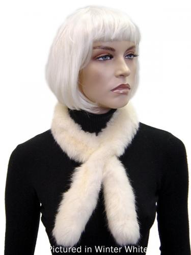 Winter White Possum Fur Sausage Roll Collar
