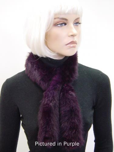 Purple Possum Fur Sausage Roll Collar