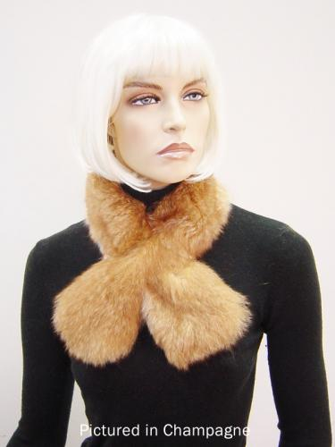 Champagne Possum Fur Scarf Collar