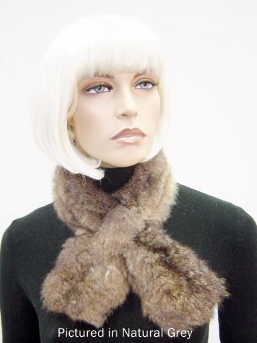 Natural Grey Possum Fur Scarf Collar