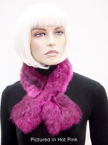 Hot Pink Possum Fur Scarf Collar