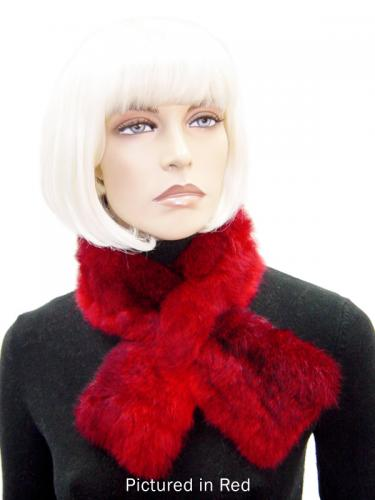 Red Possum Fur Scarf Collar