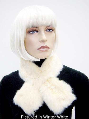 Winter White Possum Fur Scarf Collar