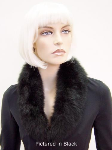 Black Possum Fur Shawl Collar