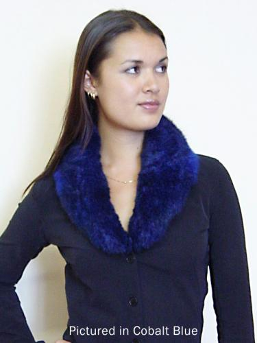 Cobalt Blue Possum Fur Shawl Collar