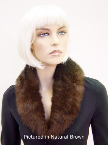 Natural Brown Possum Fur Shawl Collar