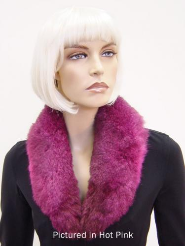 Hot Pink Possum Fur Shawl Collar