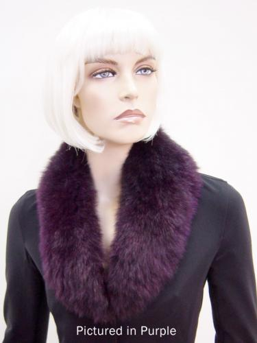 Purple Possum Fur Shawl Collar