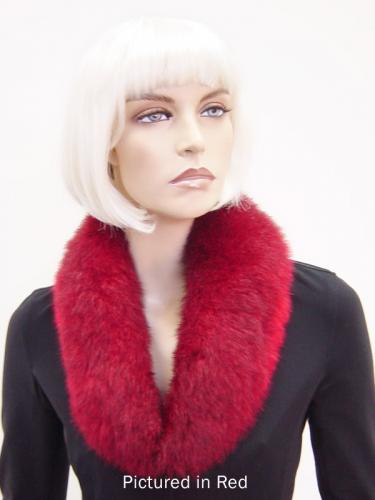 Red Possum Fur Shawl Collar