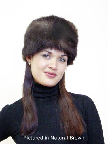 Natural Brown Possum Fur Cossack Hat