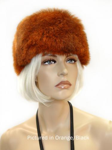 Orange/Black Possum Fur Cossack Hat