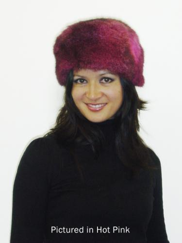 Hot Pink Possum Fur Cossack Hat