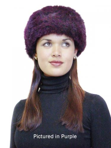 Purple Possum Fur Cossack Hat