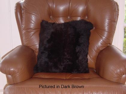 Dark Brown Possum Fur Cushion Cover