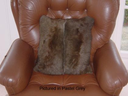 Pastel Grey Possum Fur Cushion Cover