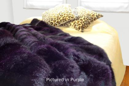 Purple Possum Fur Full Bed Throw