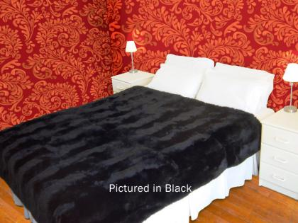 Black Possum Fur Full Bed Throw