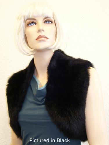 Black Possum Fur Bolero Vest