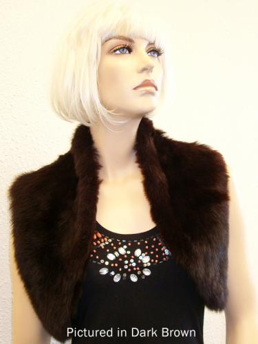 Dark Brown Possum Fur Bolero Vest