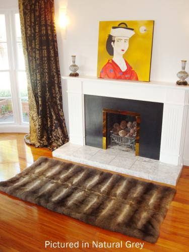 Natural Grey Possum Fur Half Bed Throw