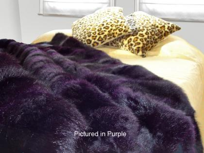 Purple Possum Fur Half Bed Throw