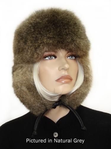 Natural Grey Possum Fur KGB Russian Hat