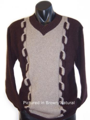 Brown/Natural Possum Merino Kent Sweater