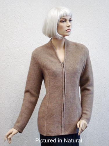 Natural Possum Merino Carolina Jacket (less fur)