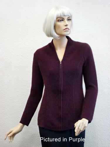 Purple Possum Merino Carolina Jacket (less fur)