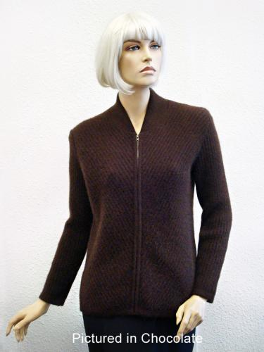 Chocolate Possum Merino Chelsea Jacket (less fur)