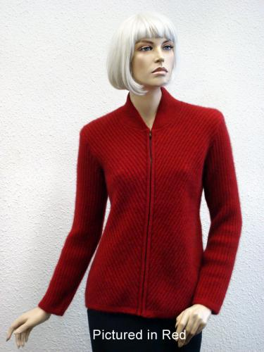 Red Possum Merino Chelsea Jacket (less fur)