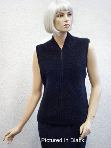 Black  Possum Merino Chelsea Vest (less fur)