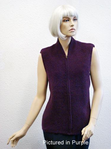 Purple Possum Merino Chelsea Vest (less fur)