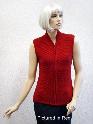 Red Possum Merino Chelsea Vest (less fur)