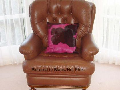 Black & Pink Moomoo Cowskin Cushion Cover